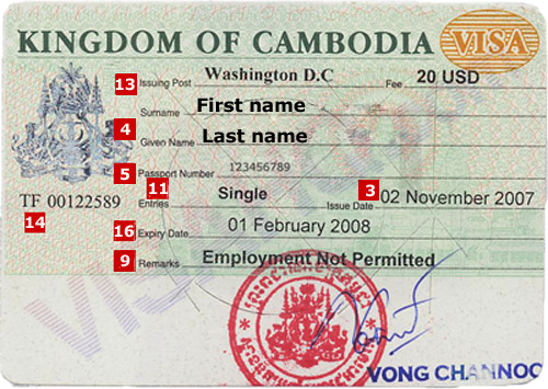 How To Apply Cambodia Visa And Visas For Cambodia - Cambodia visa for us citizens dc embassy map